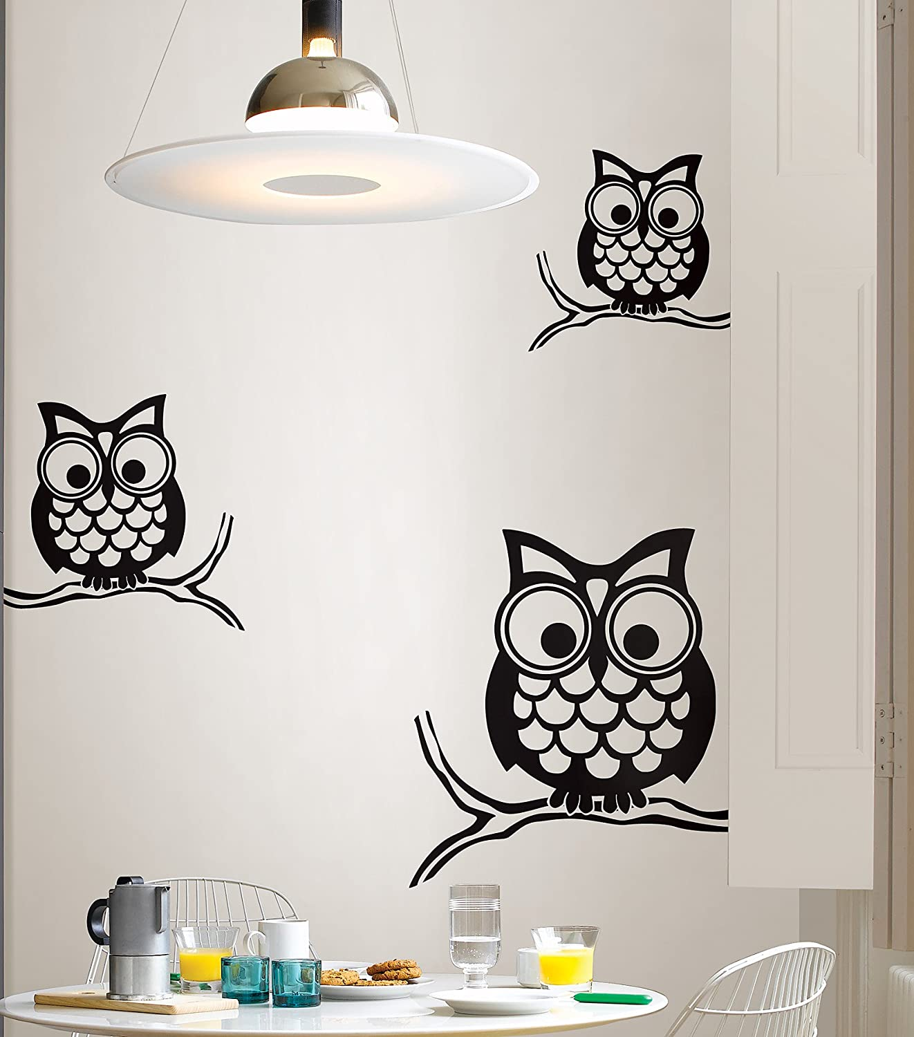 Wall Pops WPK96848 Peel U0026 Stick Give A Hoot Small Wall Art Kit   Decorative  Wall Appliques   Amazon.com
