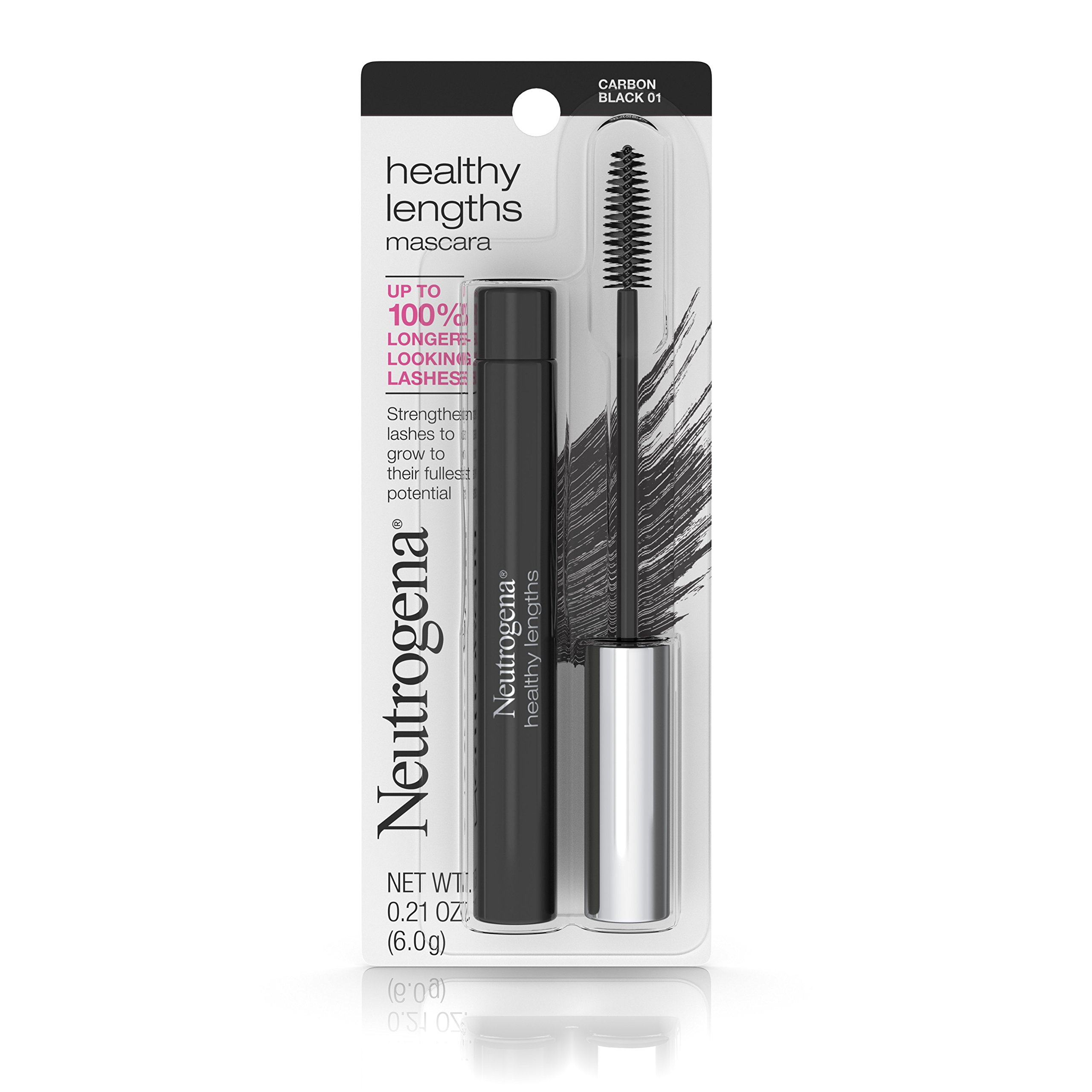 Neutrogena Healthy Lengths Mascara, Carbon Black 01.21 Oz.