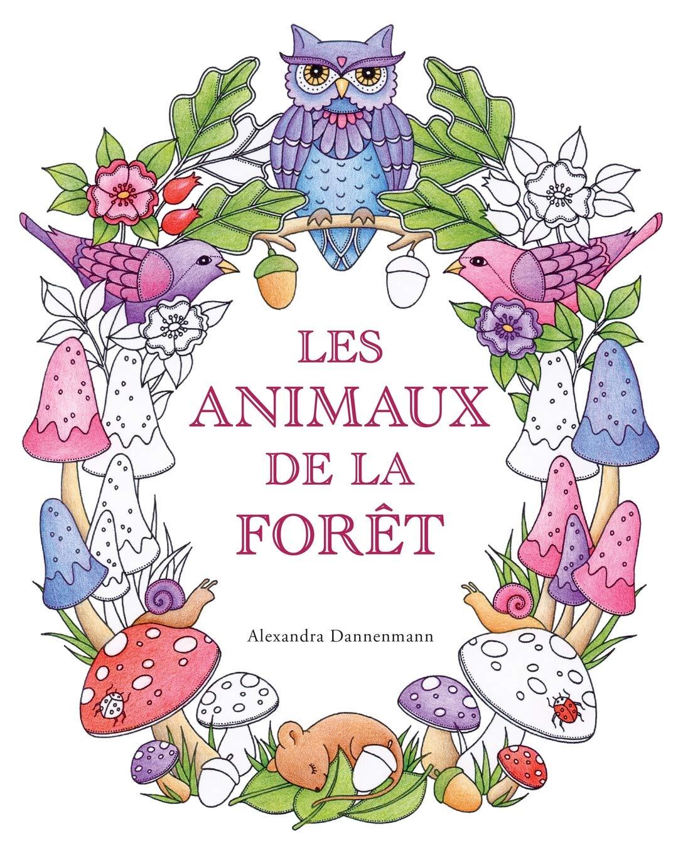 Coloriage Maison Dans La Foret.Amazon Fr Les Animaux De La Foret Un Livre De Coloriage