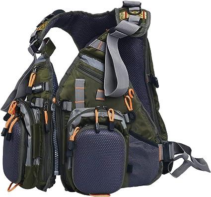Angeln Weste Rucksack Verstellbare Größe Fliegenfischen Weste Pack Mit