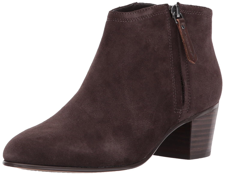 CLARKS Women's Maypearl Alice Ankle Bootie B01N7KIU7Q 9.5 B(M) US|Dark Brown Suede