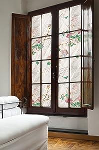 ARTSCAPE Wild Rose Window Film, 24 x 36 inches