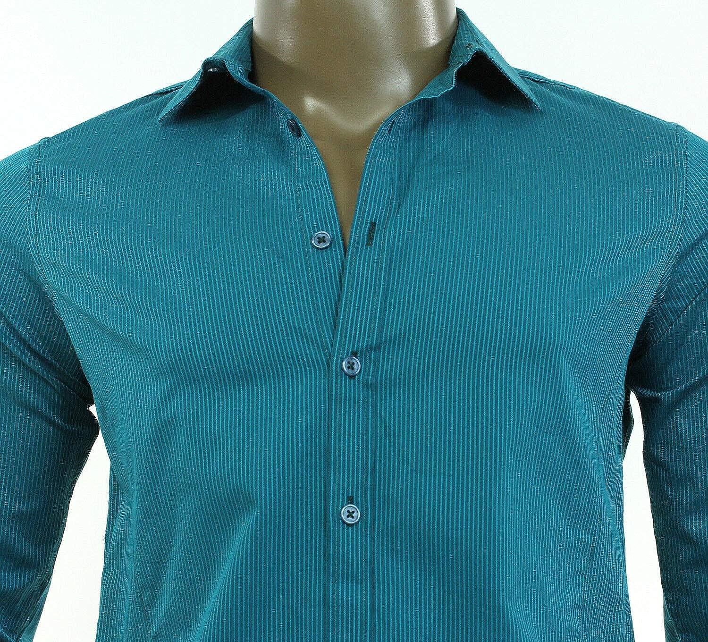 INC International Concepts Mens Long Sleeve SARCEN NEO Teal Shirt S