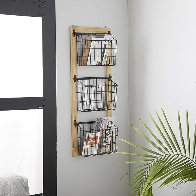 Bad Organizer Geh/äkelt Dekokorb Wohnzimmer Accessoires Grau//Rosa 14 cm Kinderzimmer Aufbewahrung Korb