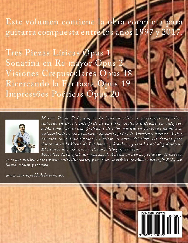 Obra Completa para Guitarra: Opus 1 - 2 - 18 - 19 - 20: Amazon.es ...