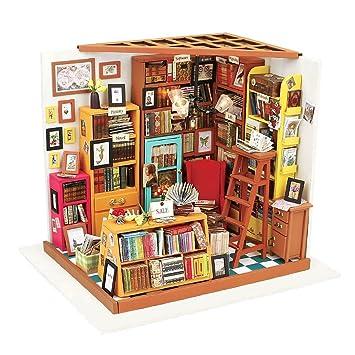 Arkind Livre De Maison 3D Puzzle Diy House Books Woodcraft Kit De