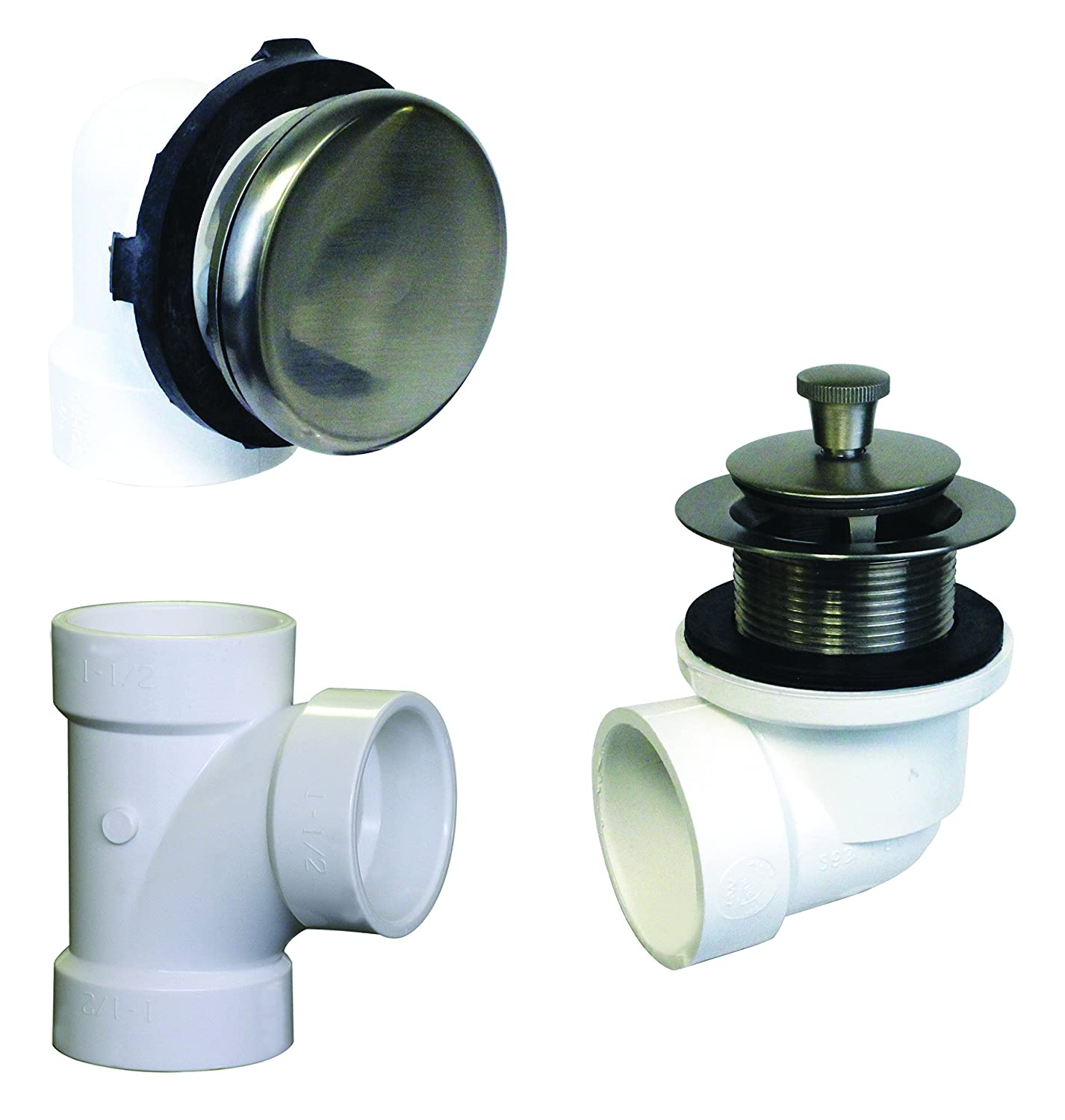 Satin Westbrass D594Prk-12 Illusionary Overflow, Sch. 40 Pvc Plumbers Pack