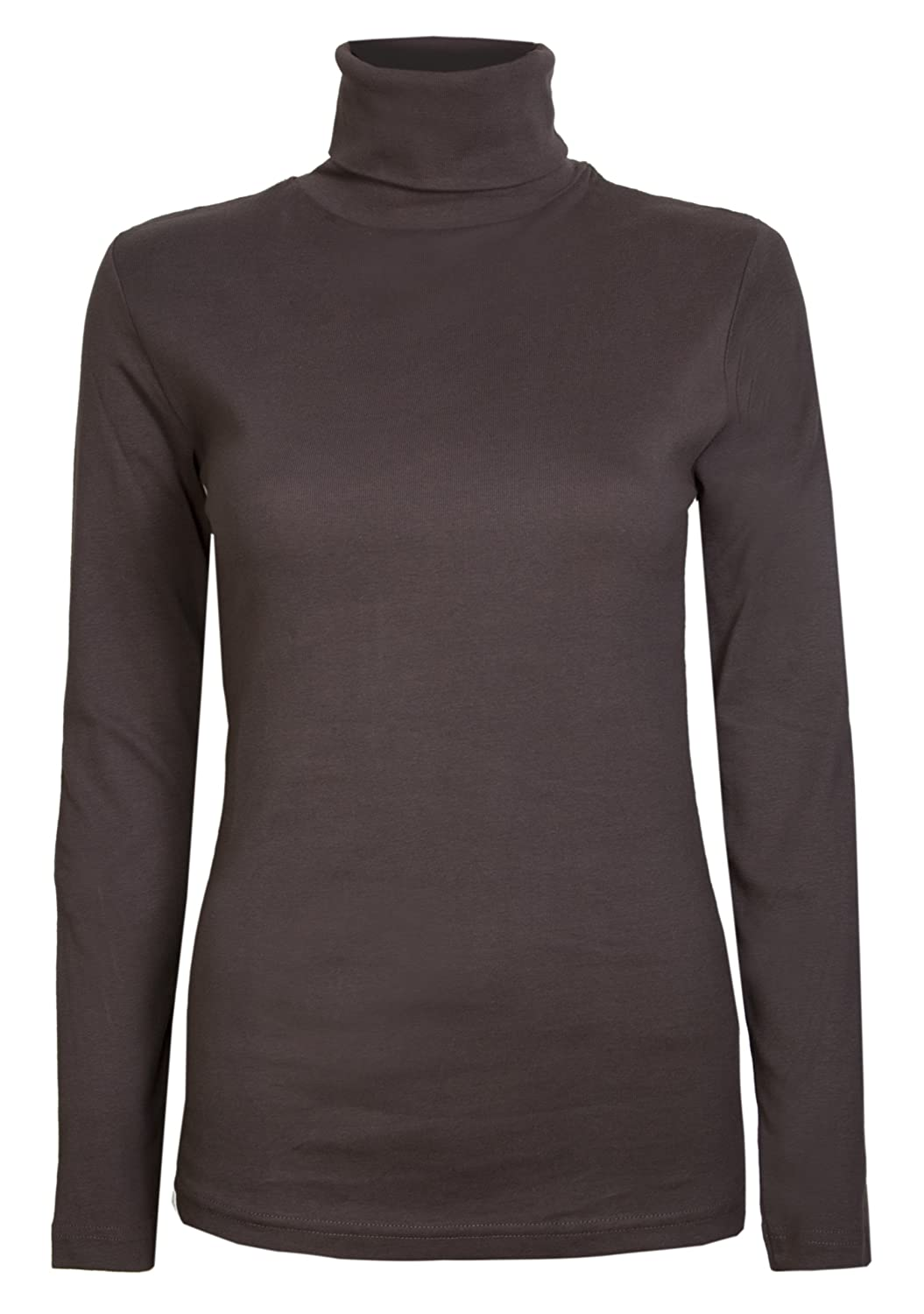 Womens Roll Necks Ladies Polo Neck Tops Exclusively Brody & CoPlain Winter Ski Quality Stretch Jersey Cotton