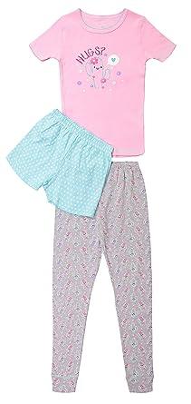 e4a215a61bb5 Amazon.com  Girls Short Sleeve Pajama Top W  Pants   Shorts Bottom ...