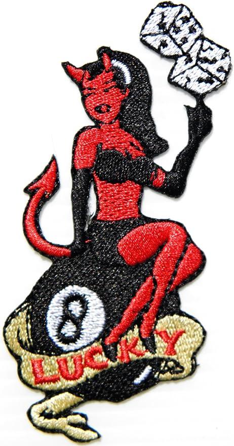 8 Ocho Número de la suerte Bola Piscina Billar Dados Sexy Devil ...