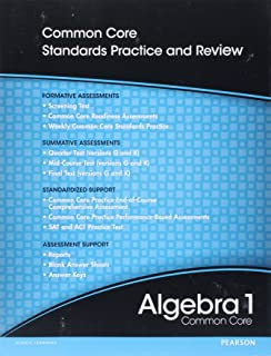 Algebra 1 practice and problem solving workbook teachers guide high school math 2012 common core algebra 1 progress monitoring assessment grade 89 fandeluxe
