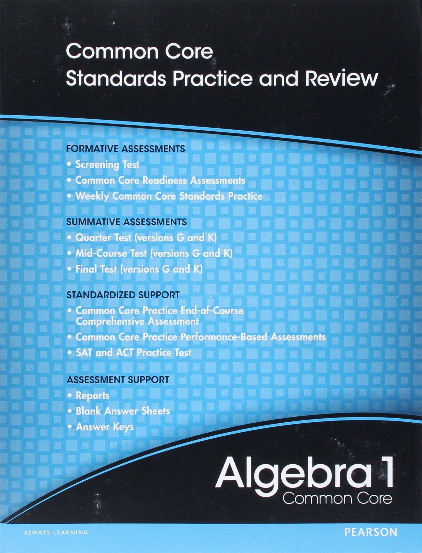 Amazon.com: High School Math 2012 Common-Core Algebra 1 Progress ...