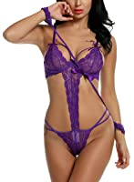 ADOME Lingerie Hot Babydoll Donna Pizzo Lace Manette Sexy