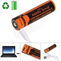 Sidiou Group Micro USB 18650 Li-ion Batteries 3000mAh 3.7v rechargeable battery USB interface Rechargeable Batteries for LED Flashlight Torch