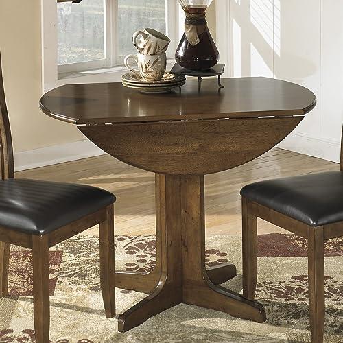 FurnitureMaxx Stanman Medium Brown Round Drop Leaf Table