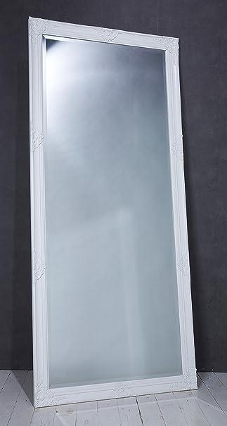 Schön Wholesaler GmbH Eleganter Wandspiegel Spiegel Weiß Ca. 180 X 80 Cm Antik  Barock Stil
