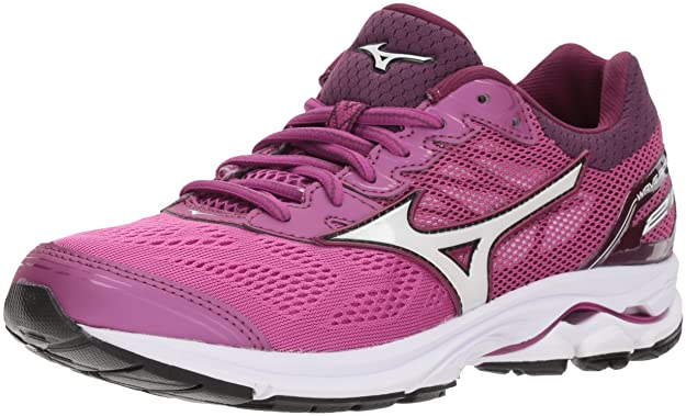 Mizuno Women's Wave Rider 21 Running Shoe Athletic Shoe, Clover/White, 7 B US
