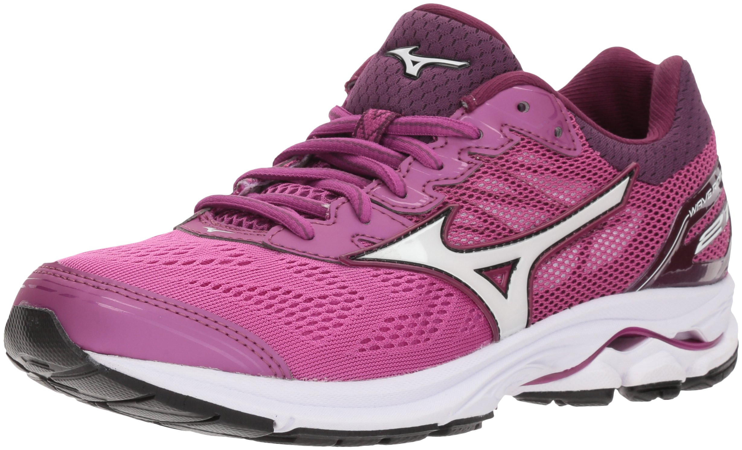 Mizuno Women's Wave Rider 21 Running Shoe Athletic Shoe, Clover/White, 8 B US