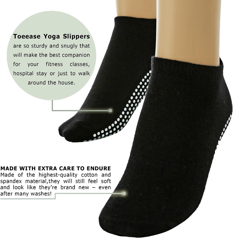 Multipack of Non Slip Yoga Socks for Women and Girls for Yoga,pilates Pure