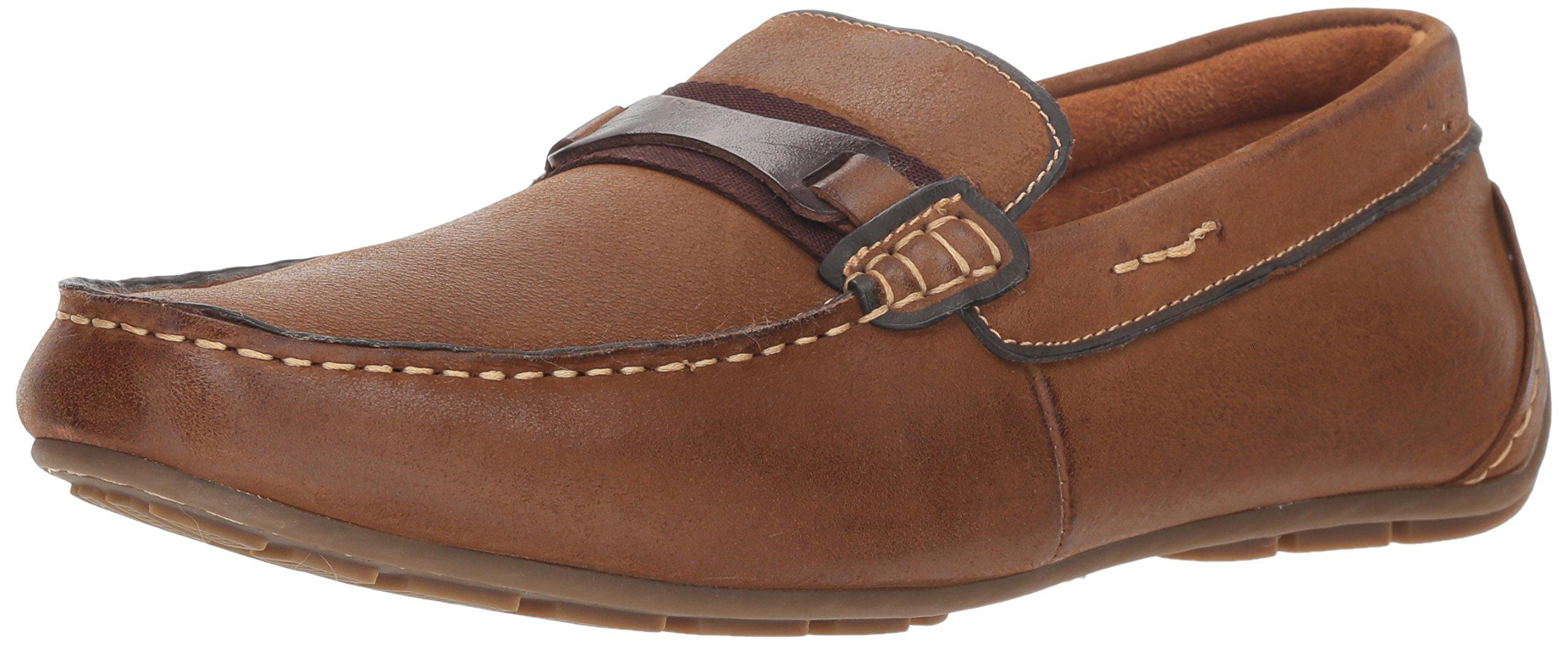 Steve Madden Men's Garter Loafer, Dark Tan, 13 M US