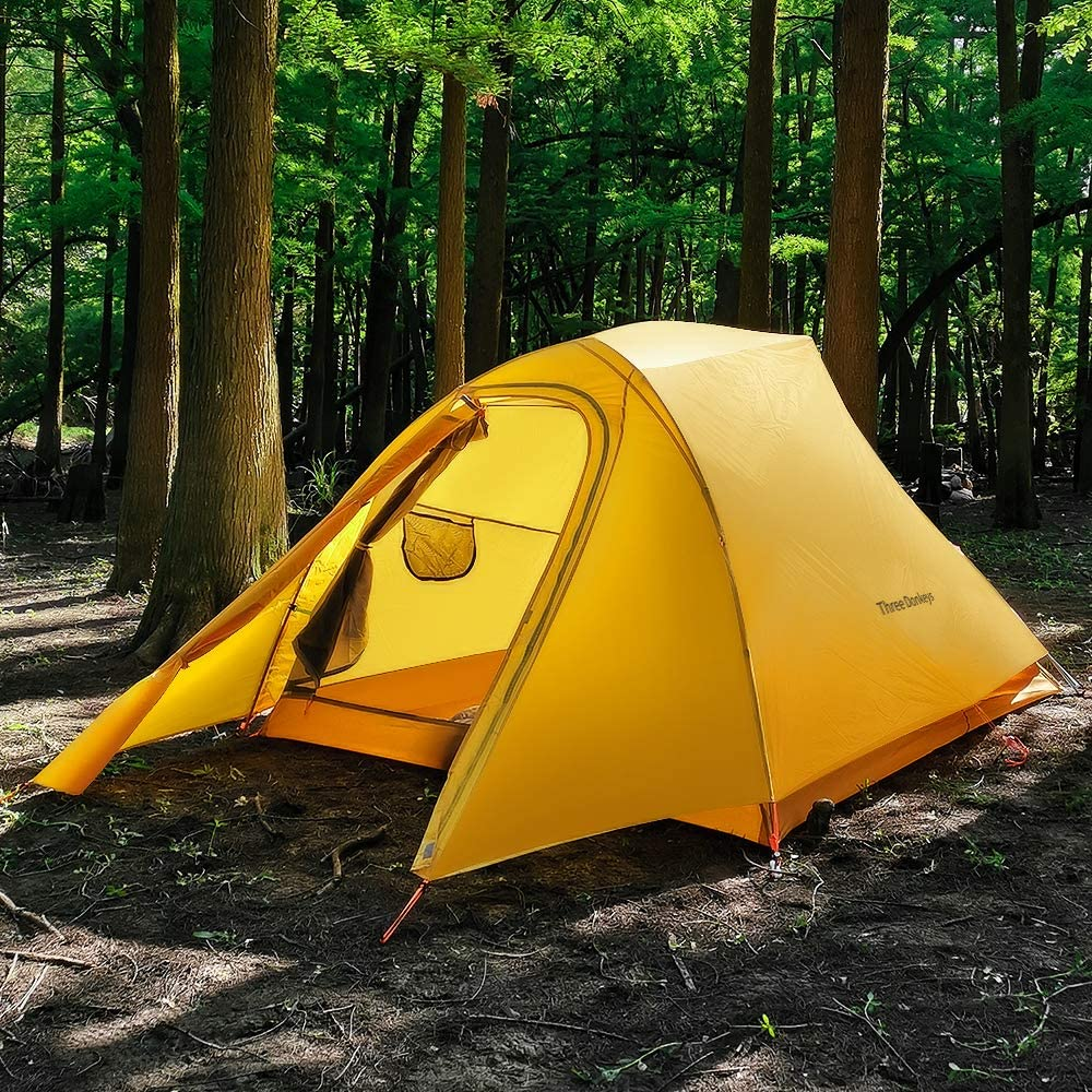 2 and 3 Person Lightweight Waterproof Camping and Backpacking Hiking Tent with Footprint Three Donkeys Breeze-Up 1
