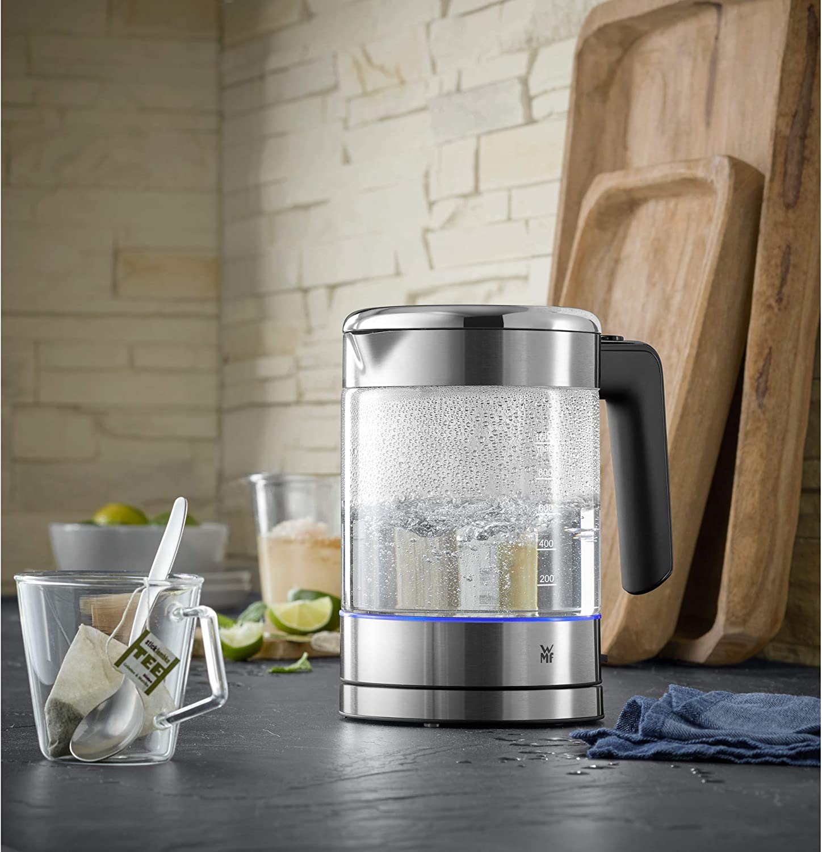 WMF KÜCHENminis Glas Wasserkocher 1,0l 1900 Watt Cromargan Kalkfilter 0413190011