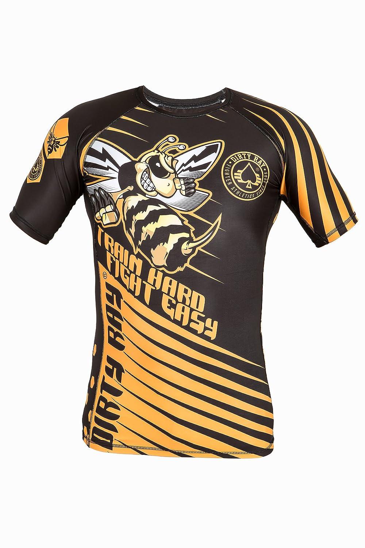 Dirty Ray Arts Martiaux Hornet t-shirt de compression rashguard homme RG13