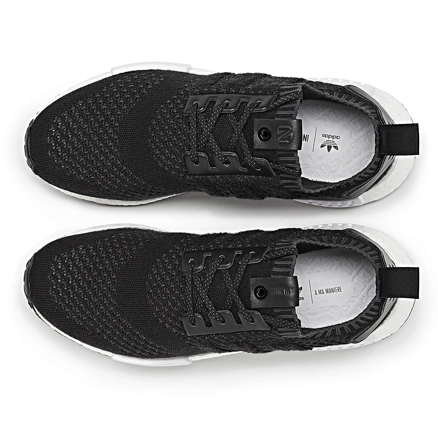 hot sale online f0529 66892 Amazon.com  adidas Consortium x A MA maniere x Invincible Men NMD R1  Sneaker Exchange (BlackNight Grey)  Fashion Sneakers
