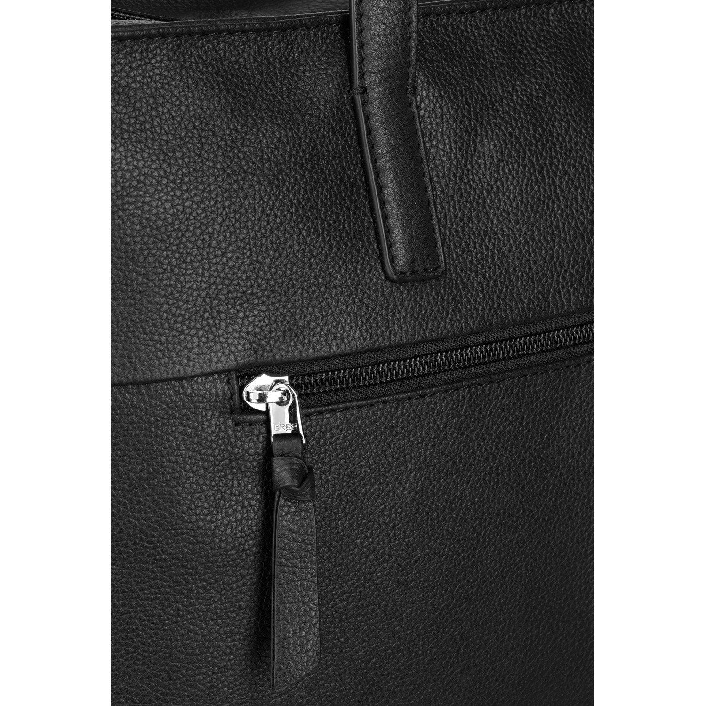 BREE Collection Damen Cary 14, Business Bag L Henkeltasche, Blau (Navy), 30x11x37 cm Schwarz (Black)