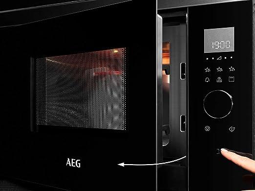 AEG MBE2657DEM Microondas Integrable con Grill de 800W, Display ...