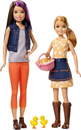 Amazon.es: Mattel Barbie-Mueñecas Skipper y Stacie granjeras con ...