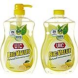 UIC Big Value Dishwashing Liquid Pump, Lemon, 1000ml (Pack of 2)