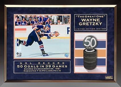 54033c081 Wayne Gretzky NHL Record 50 Goals in 39 Games Ltd Ed of 239 - Edmonton  Oilers