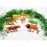 Asian Hobby Crafts Detachable Plastic Animals (Set of 8)