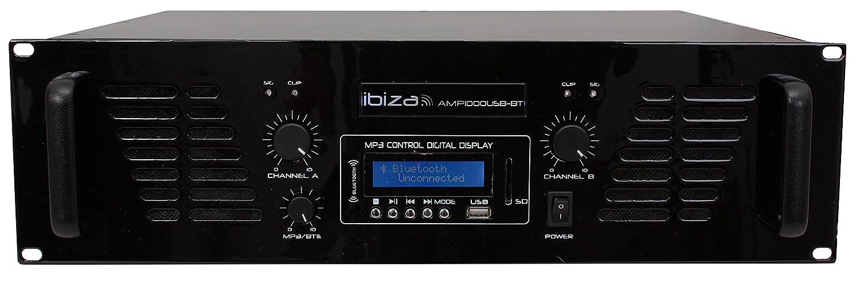IBIS amp1000usb-bt Vorverstä rker mit Bluetooth USB 2 x 800 W schwarz
