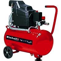 Einhell 4007325 TC-AC 190/24/8 - Compresor de aire, depósito de 24 l, 2850 rpm, 8 bar, 1500 W, 220-240 V, 50 Hz, Rojo…
