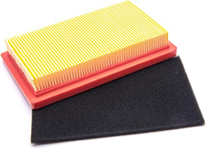 vhbw - Filtro de aire de papel para filtro de aire de espuma, para cortacésped Thorx OHV 55, OHV 600, 14,5 x 8,5 x 2,8 cm