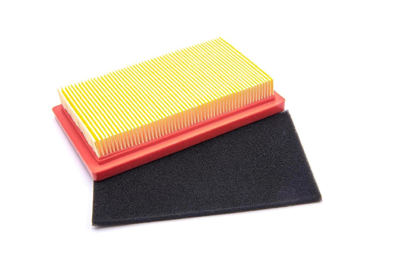 600 500 noir pour tondeuse /à gazon Bolens OHV 400 vhbw Set de filtre /à air orange