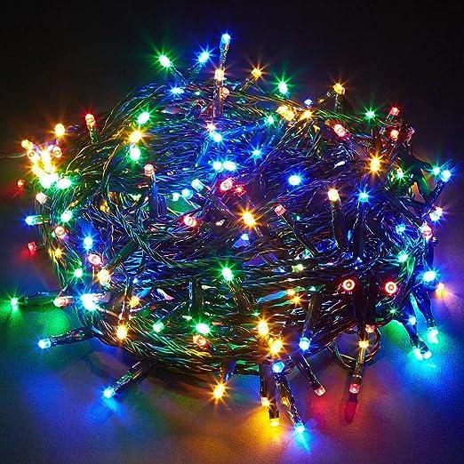 Sentik multi coloured 100 led chaser string lights indoor outdoor sentik multi coloured 100 led chaser string lights indoor outdoor xmas christmas party mozeypictures Choice Image