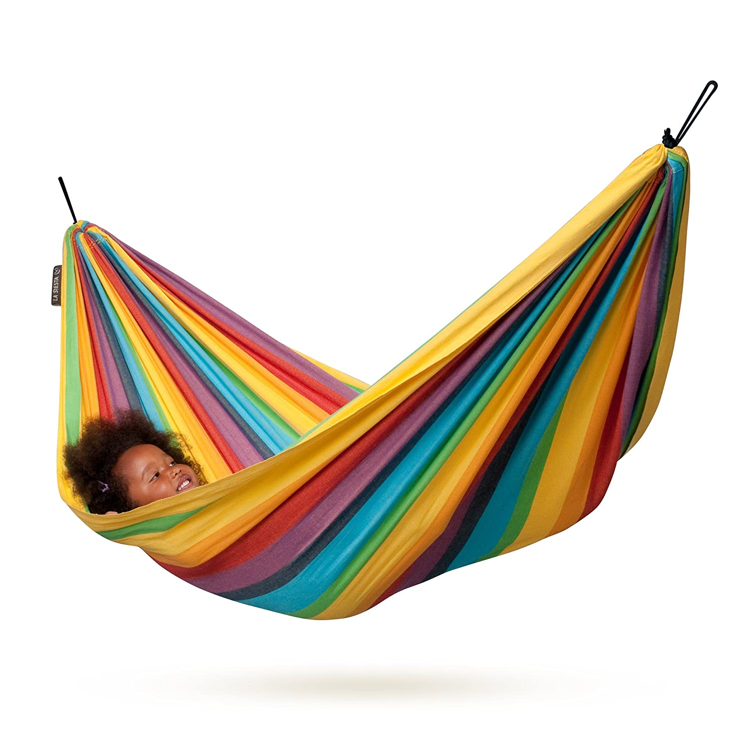 amazon    la siesta iri rainbow   cotton kids hammock  garden  u0026 outdoor amazon    la siesta iri rainbow   cotton kids hammock  garden      rh   amazon