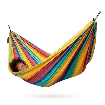 la siesta iri rainbow   cotton kids hammock amazon    la siesta iri rainbow   cotton kids hammock  garden      rh   amazon