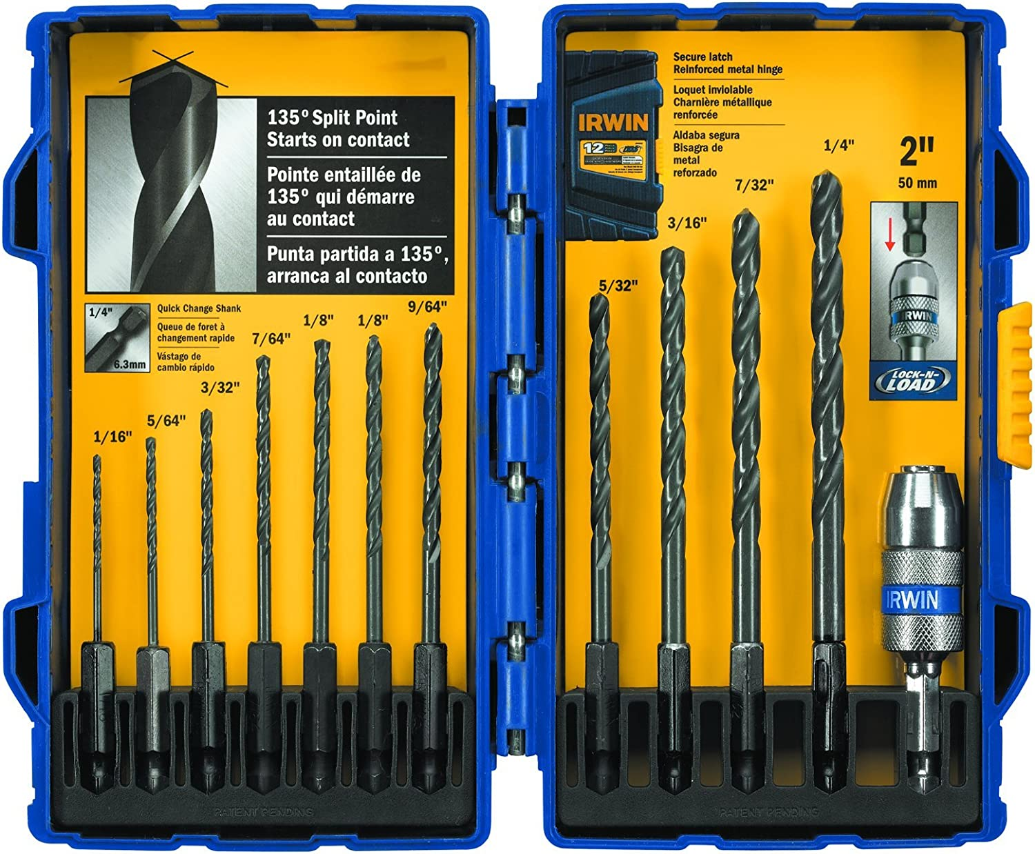 Straight Shank Twist Bits for Power Drill Drill Bit Set Black Oxide Finish and High-Speed Steel Build/Â 21 Piece Kit with Storage Case by Stalwart