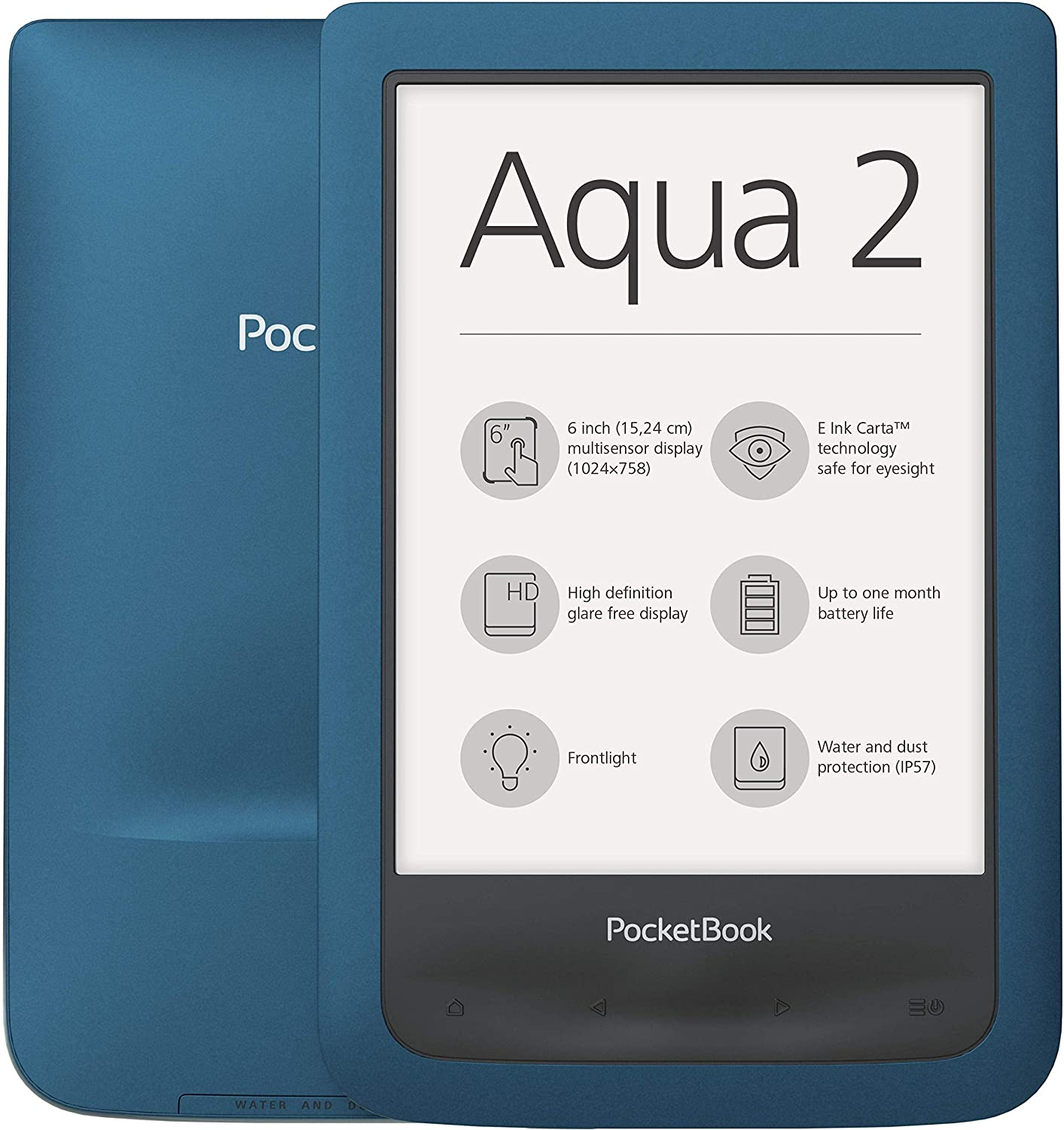 Pocketbook AQUA 2 lectore de e-book Pantalla táctil 8 GB Wifi ...