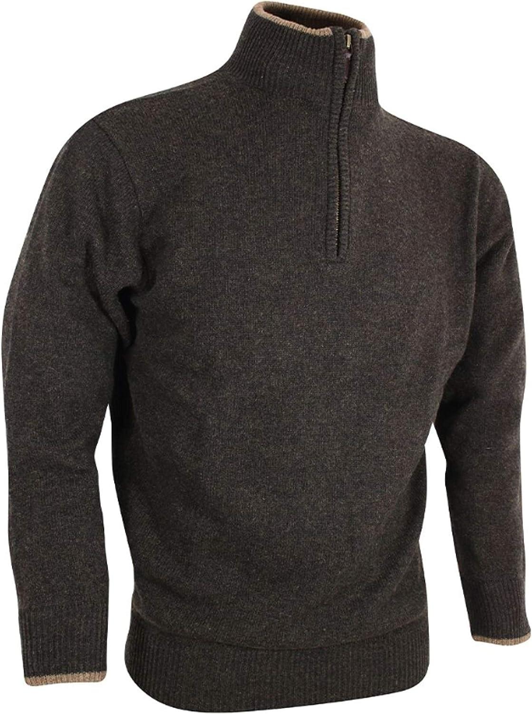 Jersey de lana de cordero Troyer Jack Pyke England verde oscuro marrón caza pesca exterior