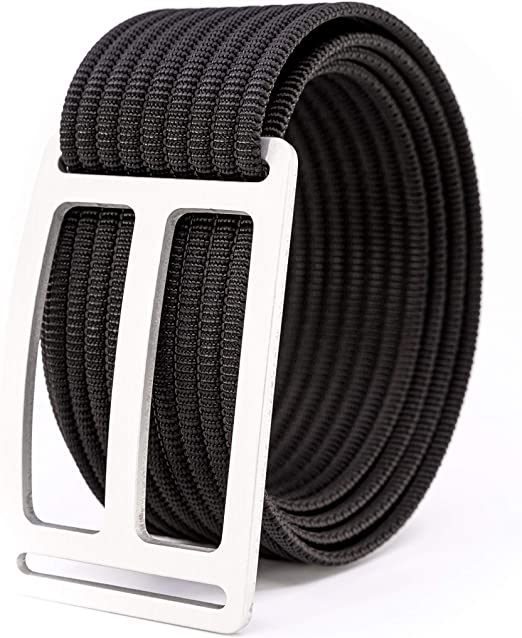 GRIP6 Men/'s Lightweight Belt Adjustable Nylon Webbing Strap w//Aluminium Buckle