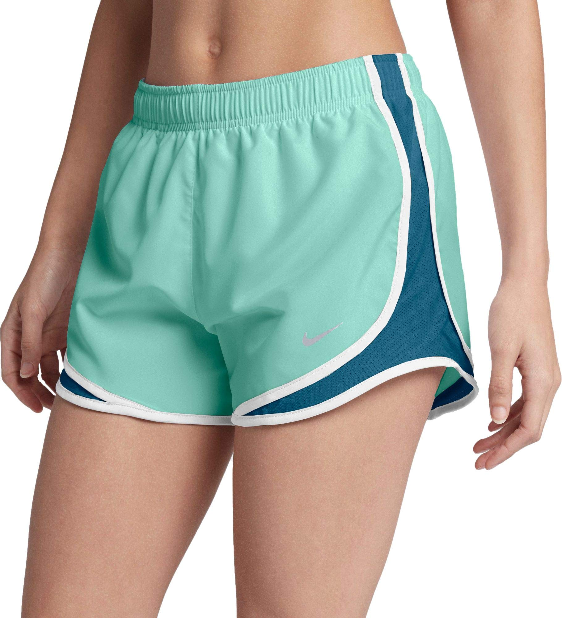 Nike Women's 3'' Dry Tempo Running Shorts (Igloo/Blue Force/W/Wg/X-Small) by Nike