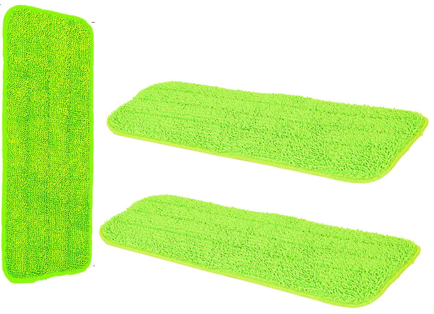 Microfibre Laminate Floor Mop Replacement Pad Cloths - Spray Mop Refill Replacement Head Cloth Refil Pad - Pack of 3 Machine Washable Reusable High Absorbent Cleaning Pads - Suits and Fits Most Spray Mops 42cm x 14cm - By The Dustpan and Brush Store