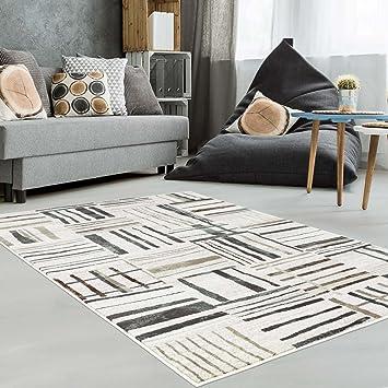 AuBergewohnlich Teppich Modern Designer Wohnzimmer Schlafzimmer Läufer Inspiration Just Karo  Pastell Blau Beige Neu, Größe In