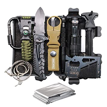 Cool Unique Birthday Gift For Him Men Husband Dad Boyfriend Boys Fun Gadget Mens Gifts Ideas 11 In 1 Survival Gear Kits Edc Emergency Tools And Everyday Carry Gear Official Survival Kit Amazon In