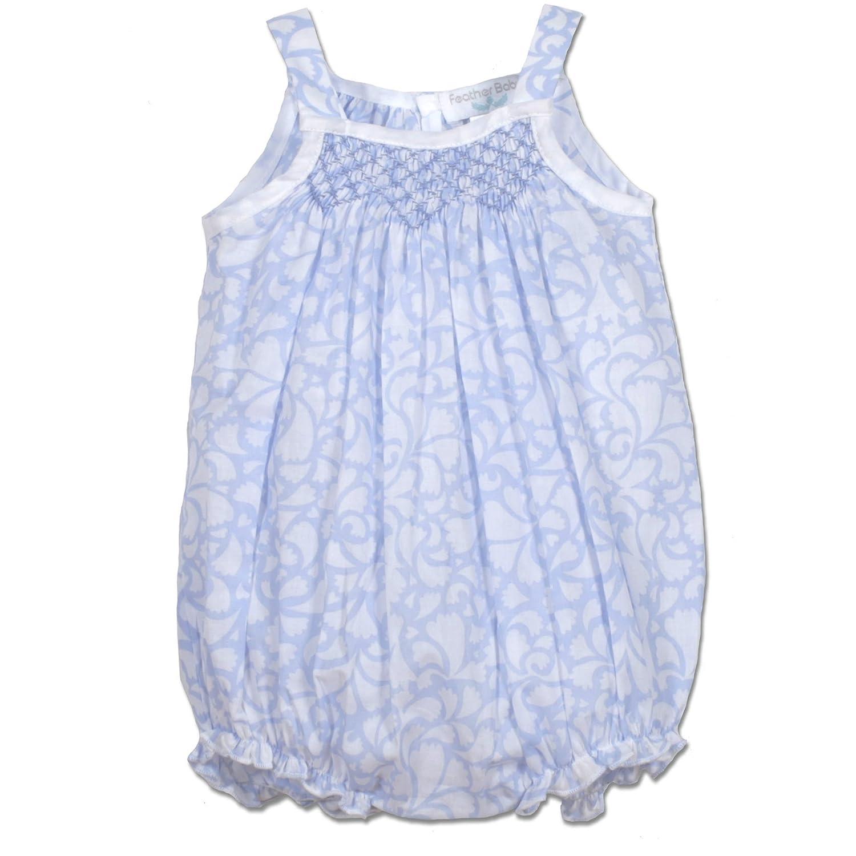 134da79dbac Amazon.com  Feather Baby Girls Clothes Pima Cotton Hand-Smock Bubble  Sunsuit Bodysuit  Clothing